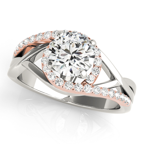 Fresh Infinity Split Shank Side Stone Bypass Engagement Ring