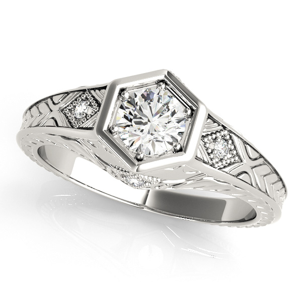 Extraordinary Antique Diamond Engagement Ring with Accents