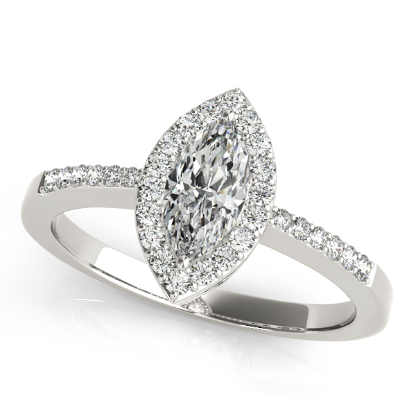Avant-Garde Marquise Cut Side Stone Diamond Engagement Ring