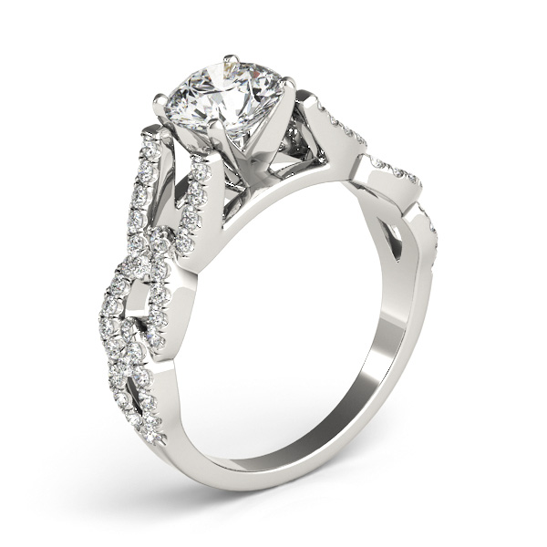click to view all diamond engagement rings - Horseshoe Wedding Rings