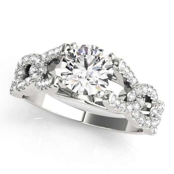 Unique Horseshoe Anchor Chain Diamond Engagement Ring