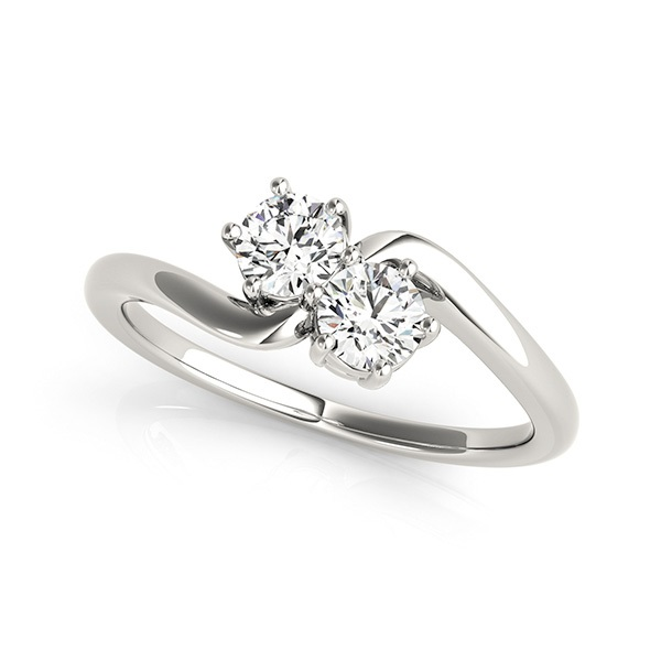 Two Stone Engagement Ring Curved Design
