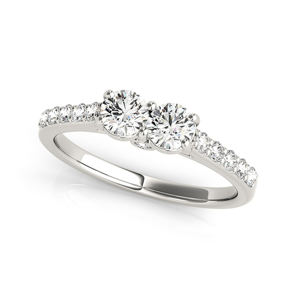 Stylish Two Stone Engagement Ring