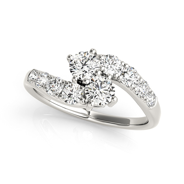 Luxury Two Stone Engagement Ring