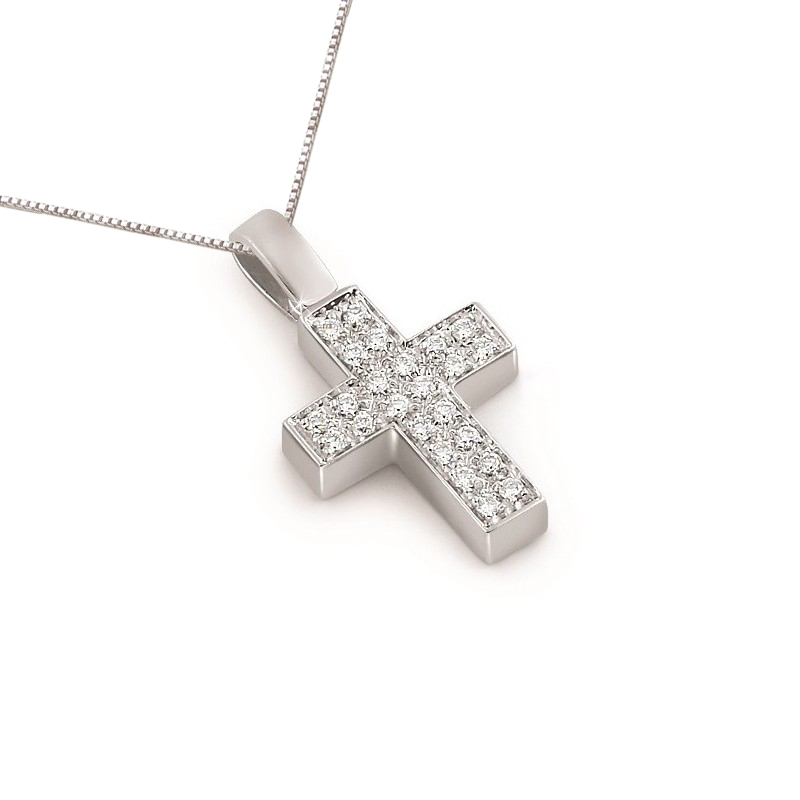 Ct luxury diamond cross necklace 036ct luxury diamond cross necklace aloadofball Choice Image