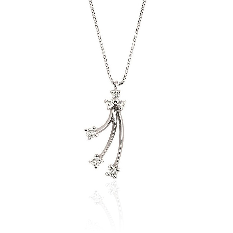 Unique Diamond Pendant Necklace 1/5CT