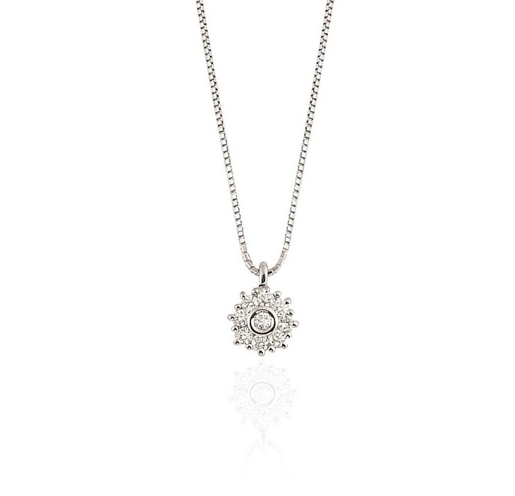 Royal Halo Diamond Pendant Necklace
