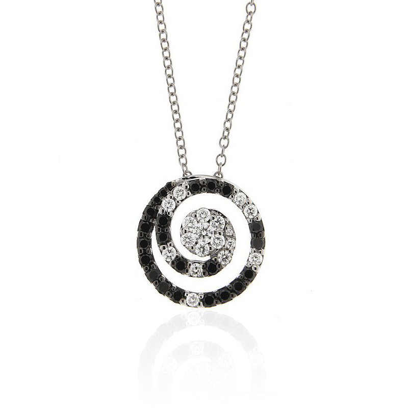 Black Diamond Necklace Swirl Design