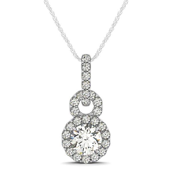 Stunning double circle infinity pendant diamond necklace aloadofball Image collections