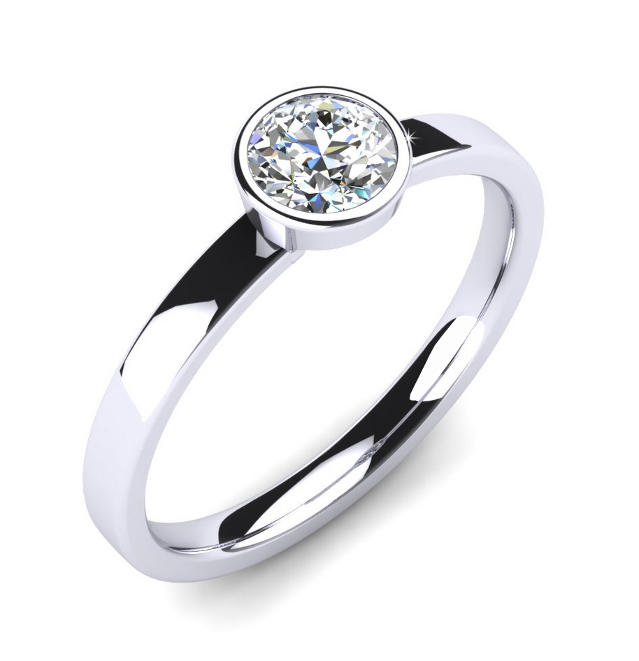 bezel engagement ring
