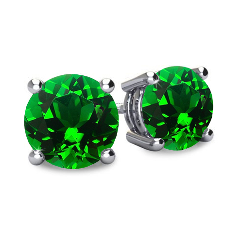 Emerald Earrings Studs