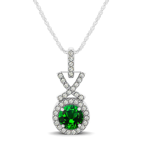 Emerald Necklace Halo