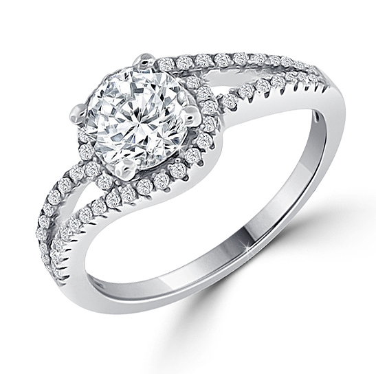 designer split shank 6 carat engagement ring - Cubic Zirconia Wedding Rings That Look Real