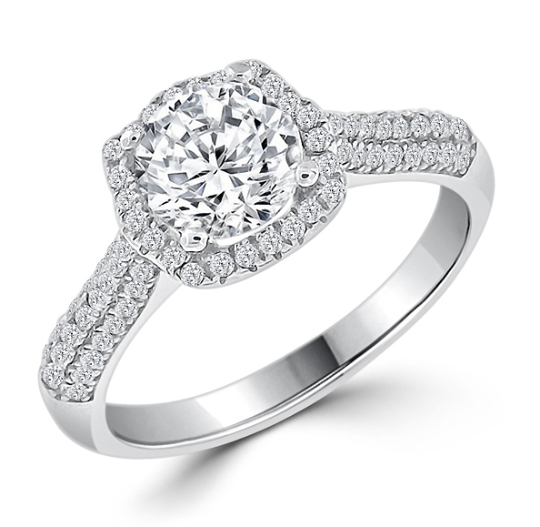 luxury silver engagement ring - Silver Wedding Rings