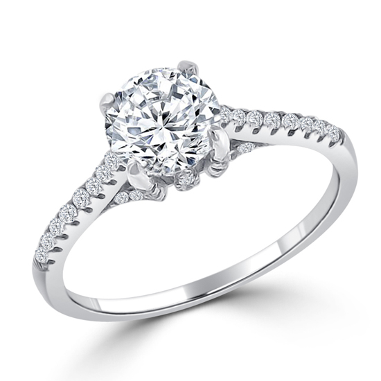 Luxury 4.5 CT CZ Engagement Ring