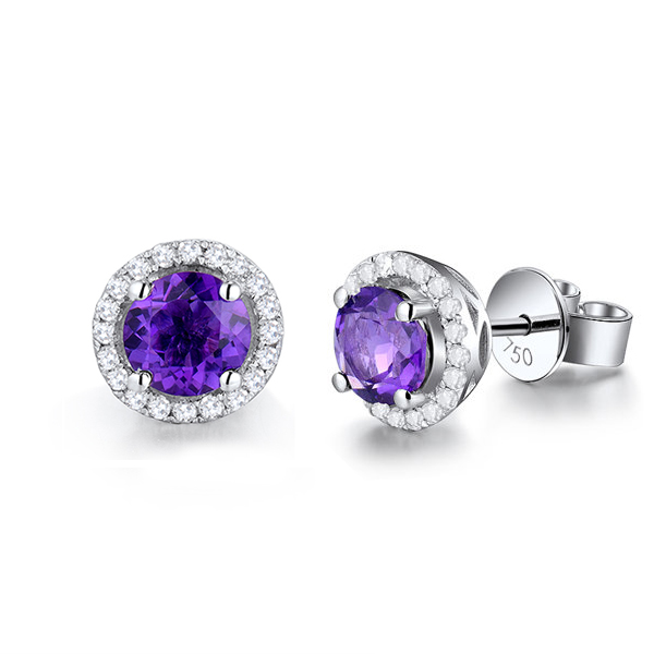earrings stud amethyst rose jewellery sophia moonstone img