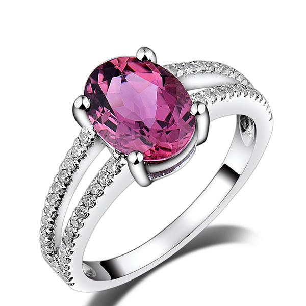 rings engagement ring gold tourmaline rose custom top diamond and