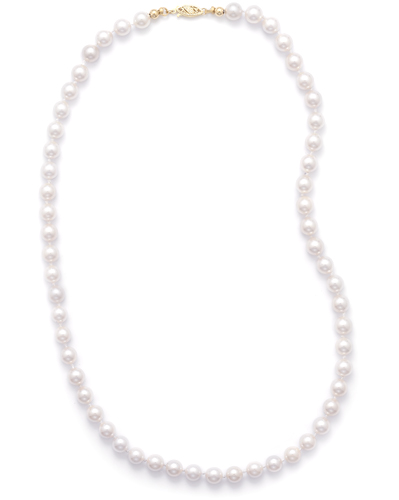 "16"" 6.5-7mm Grade AAA Cultured Akoya Pearl Necklace"