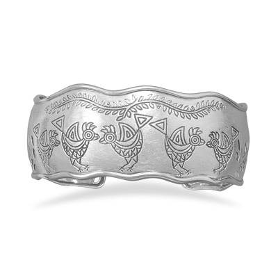 Rooster and Vine Cuff Bracelet