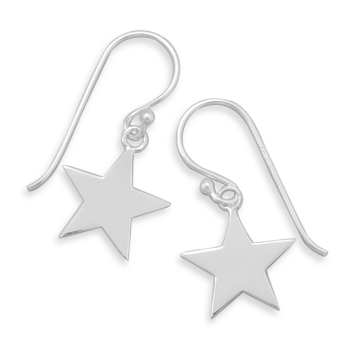 Star French Wire Earrings