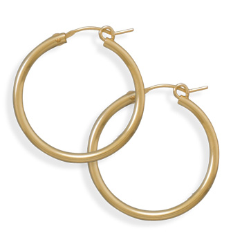 12/20 Gold Filled 2mm x 27mm Hoops