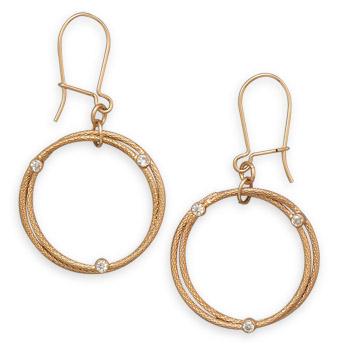 12/20 Gold Filled Double Circle Design Earrings