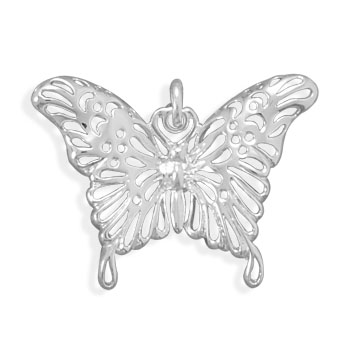 Polished Butterfly Pendant