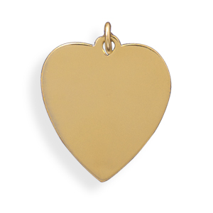 14/20 Gold Filled Engravable Heart Pendant