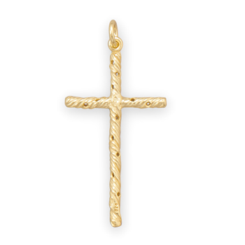 14 Karat Gold Plated Cross Pendant