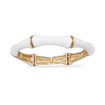 White Bamboo Fashion Bangle Bracelet