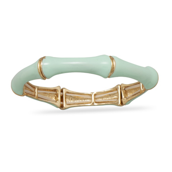Mint Green Bamboo Fashion Bangle Bracelet
