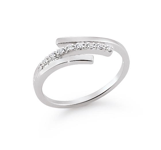 Elegant 3-Strand Custom Wedding Ring 0.06 Ct Diamonds 18K White Gold