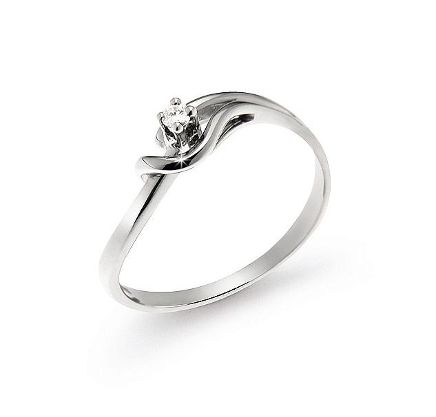 italian split shank engagement ring 004 ct diamonds 18k white gold - Wedding Rings Under 100