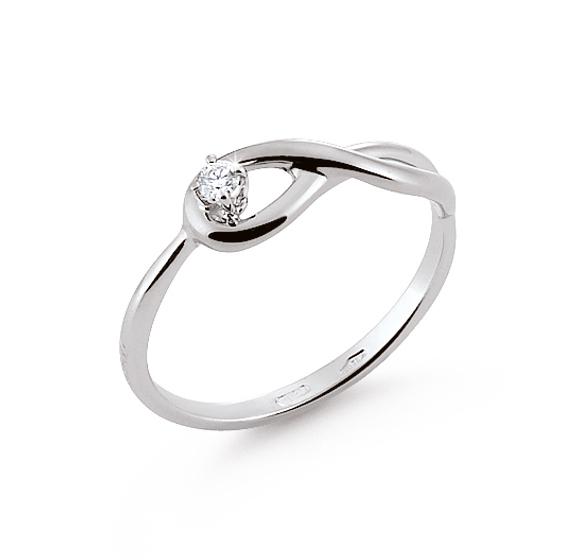 italian infinity engagement ring 003 ct diamonds 18k white gold - Infinity Wedding Rings