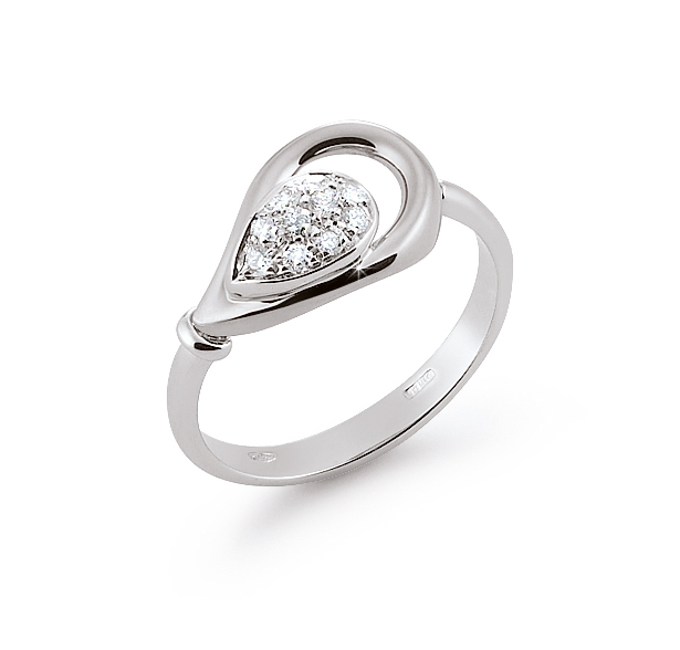 Italian Hidden Gems Ring 0.14 Ct Diamonds 18K White Gold