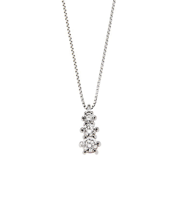 Exquisite Journey Necklace 0.33 Ct Diamonds 18K White Gold