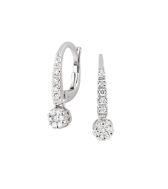 Luxury Itlian Diamond Earrings 1/3 CT Diamonds