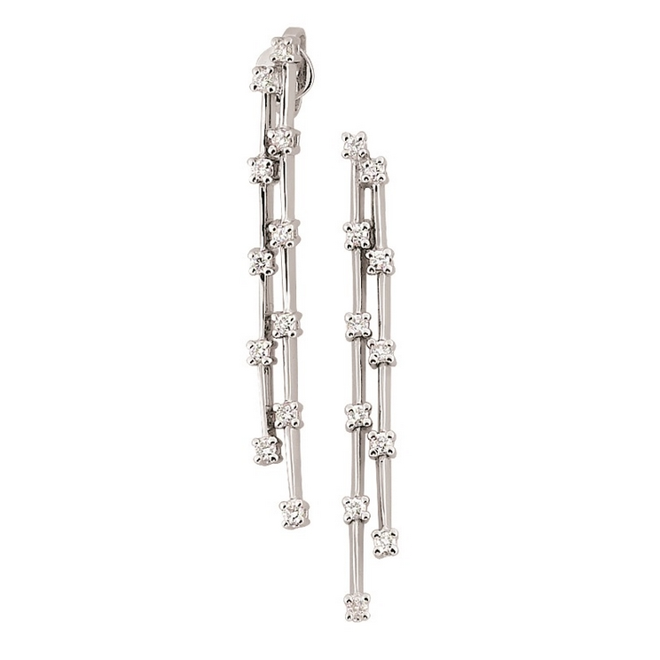 Fine Italian Bar Earrings with 1/3CT Diamonds