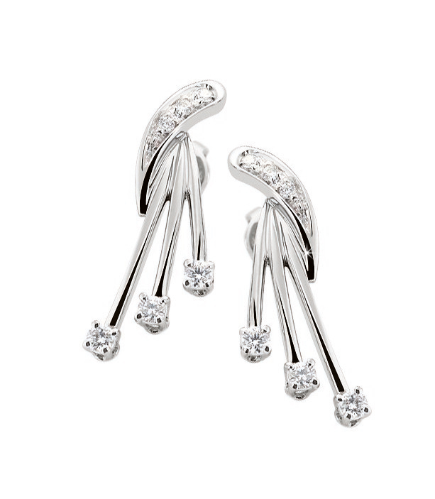 Exquisite dancing diamond earrings