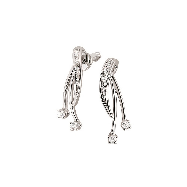 1/5CT Diamond Unique Italian Earrings