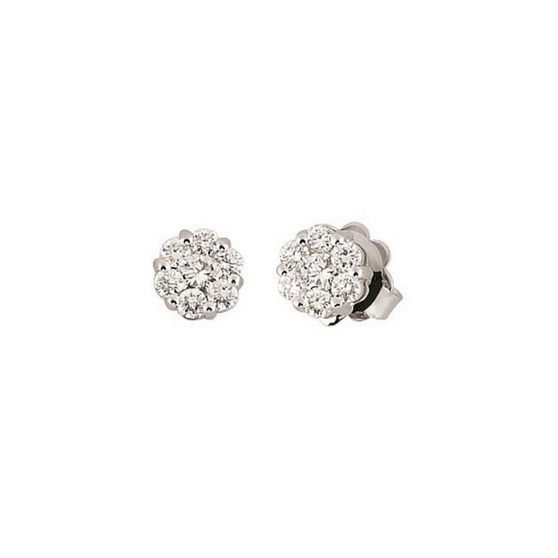 Fine Italian Stud Earrings 1/5CT Diamonds