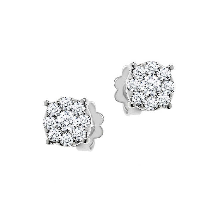 Diamond Stud Earrings 3/4CT from Italy