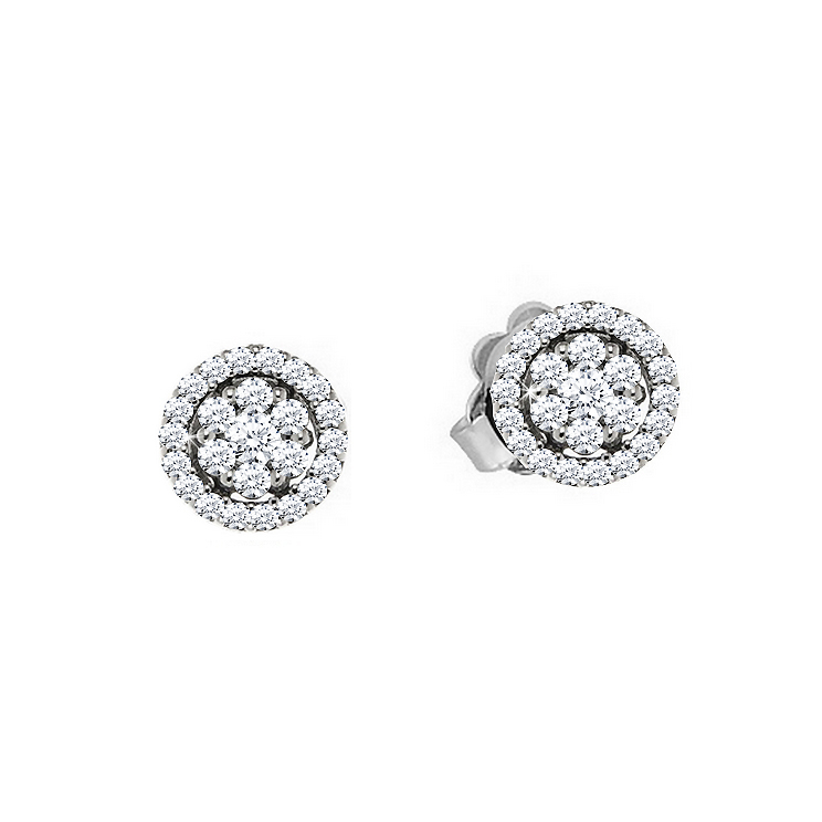 Fancy Italian Vintage Diamond Earrings 0.80CT