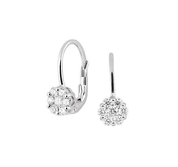 white gold diamond drop earrings 18ct yellow gold rubover. Black Bedroom Furniture Sets. Home Design Ideas