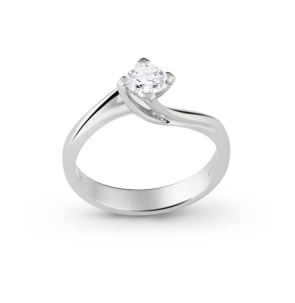 Luxury Italian White Gold Engagement Ring