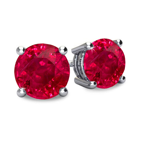 Ruby Earrings Studs