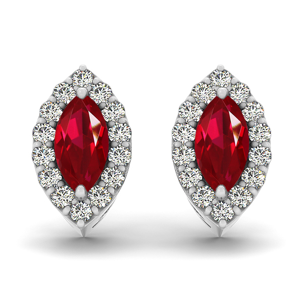 Marquise Ruby Earrings