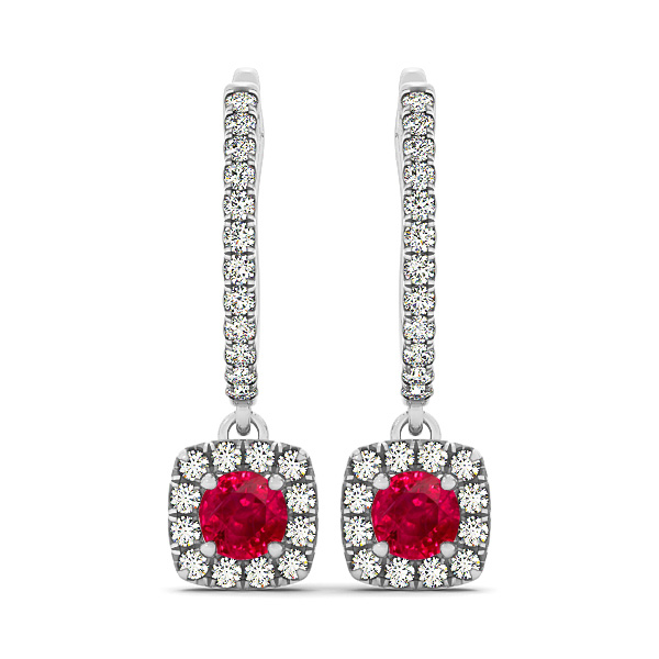 Fine Ruby Dangle Earrings
