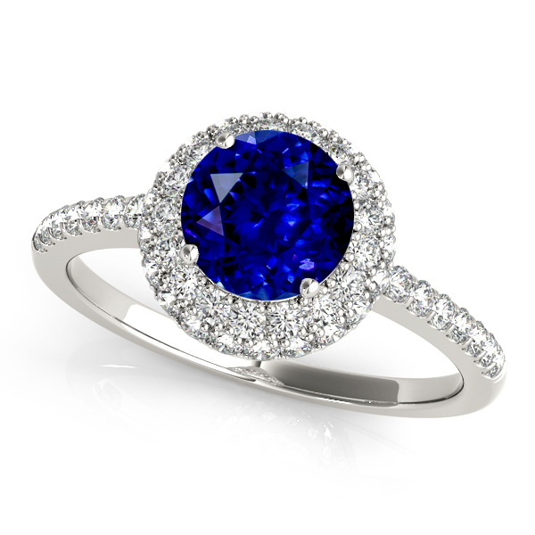 Sapphire Double Halo Engagement Ring