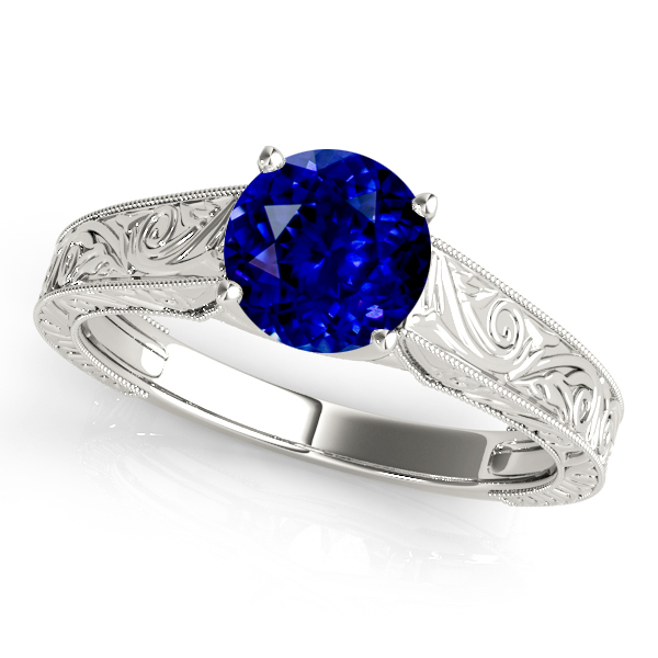 Fine Vintage Sapphire Engagement Ring with Filigree Design